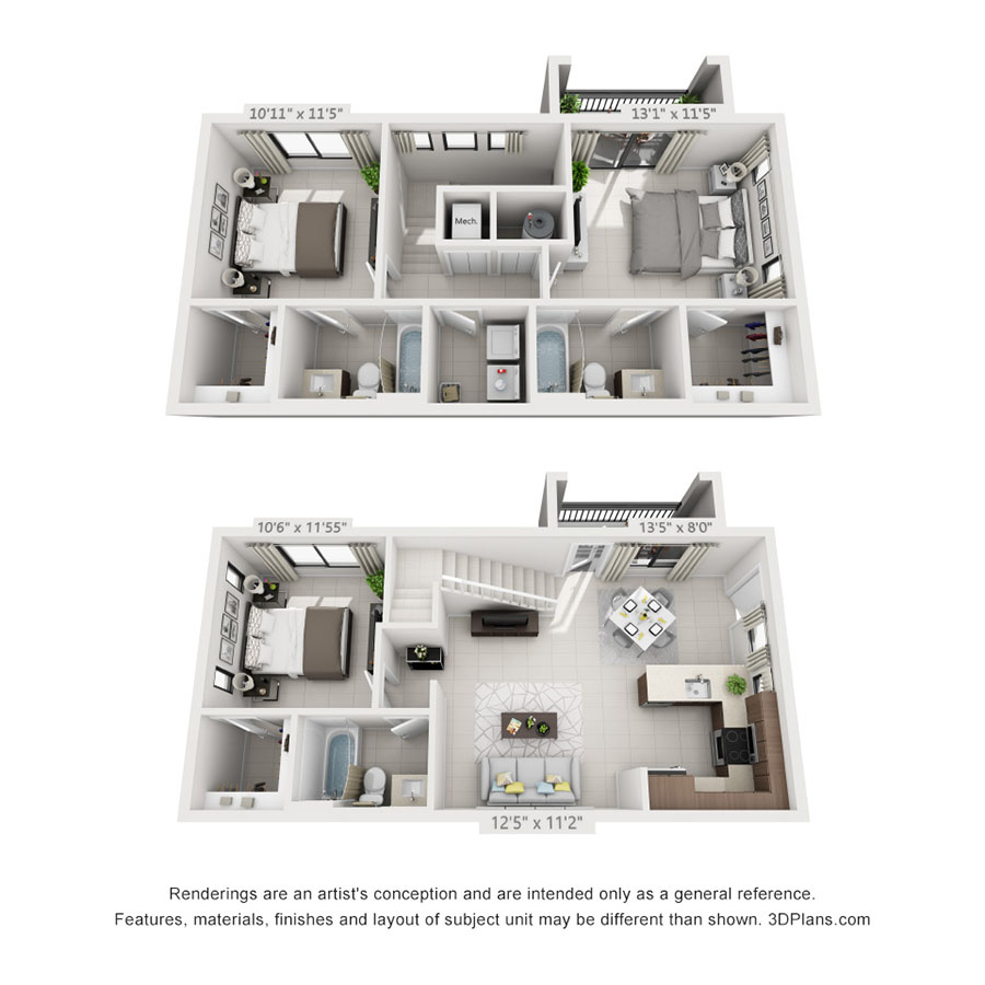 One, Two & Three Bedroom Miami Apartments